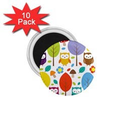 Cute Owl 1 75  Magnets (10 Pack)