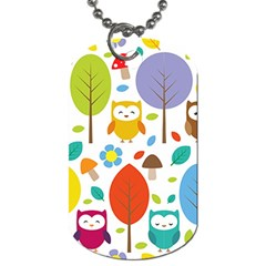 Cute Owl Dog Tag (one Side)