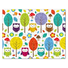 Cute Owl Rectangular Jigsaw Puzzl