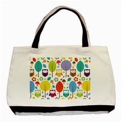 Cute Owl Basic Tote Bag