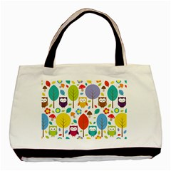 Cute Owl Basic Tote Bag (two Sides)