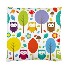 Cute Owl Standard Cushion Case (one Side)