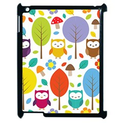 Cute Owl Apple Ipad 2 Case (black)