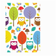 Cute Owl Large Garden Flag (two Sides)