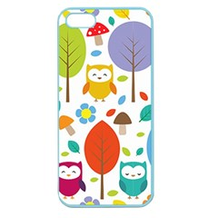 Cute Owl Apple Seamless Iphone 5 Case (color)