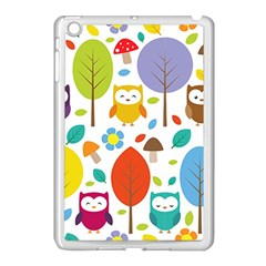 Cute Owl Apple Ipad Mini Case (white)