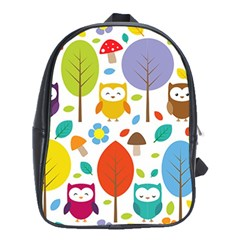 Cute Owl School Bags (XL)