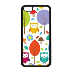 Cute Owl Apple Iphone 5c Seamless Case (black)