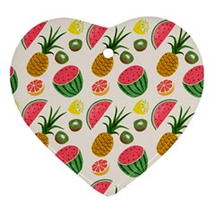 Fruits Pattern Ornament (heart)