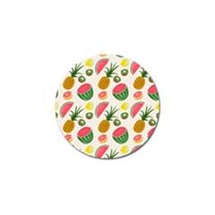 Fruits Pattern Golf Ball Marker (10 Pack)