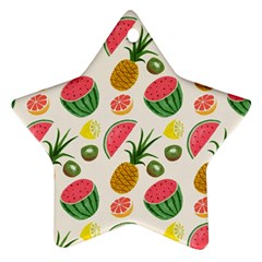 Fruits Pattern Star Ornament (Two Sides)