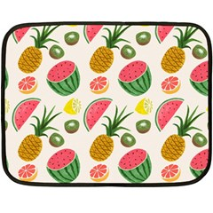 Fruits Pattern Double Sided Fleece Blanket (Mini)