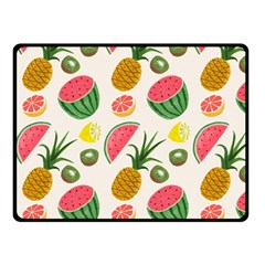 Fruits Pattern Fleece Blanket (Small)