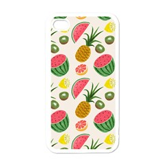 Fruits Pattern Apple iPhone 4 Case (White)