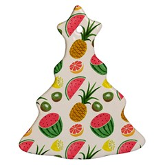 Fruits Pattern Christmas Tree Ornament (Two Sides)