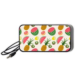 Fruits Pattern Portable Speaker (black)