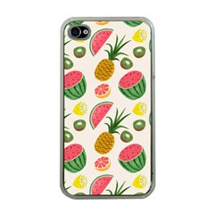 Fruits Pattern Apple iPhone 4 Case (Clear)