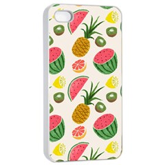 Fruits Pattern Apple Iphone 4/4s Seamless Case (white)