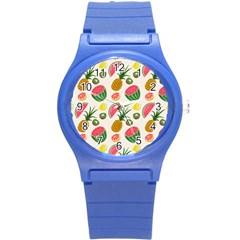 Fruits Pattern Round Plastic Sport Watch (S)
