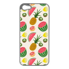 Fruits Pattern Apple Iphone 5 Case (silver)