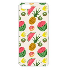 Fruits Pattern Apple Iphone 5 Seamless Case (white)