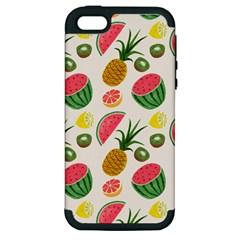 Fruits Pattern Apple Iphone 5 Hardshell Case (pc+silicone)