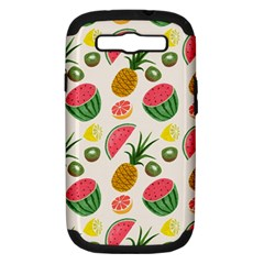 Fruits Pattern Samsung Galaxy S Iii Hardshell Case (pc+silicone)