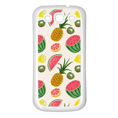 Fruits Pattern Samsung Galaxy S3 Back Case (white)