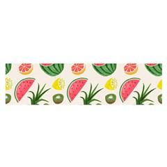 Fruits Pattern Satin Scarf (Oblong)