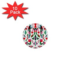 Abstract Peacock 1  Mini Buttons (10 Pack)