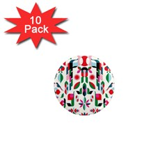 Abstract Peacock 1  Mini Magnet (10 Pack)
