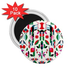Abstract Peacock 2 25  Magnets (10 Pack)