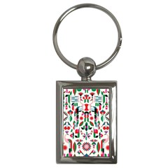 Abstract Peacock Key Chains (Rectangle)