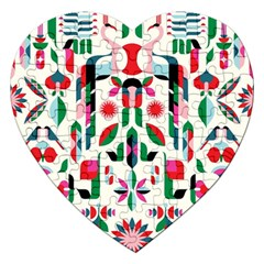 Abstract Peacock Jigsaw Puzzle (heart)