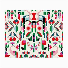Abstract Peacock Small Glasses Cloth