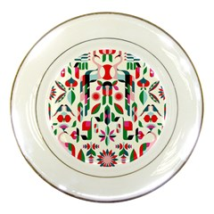Abstract Peacock Porcelain Plates
