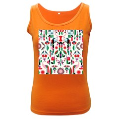 Abstract Peacock Women s Dark Tank Top