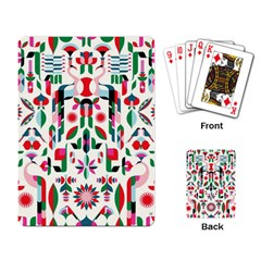 Abstract Peacock Playing Card