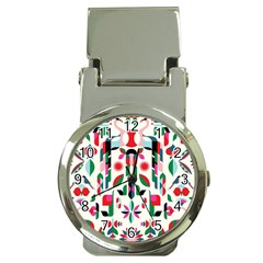 Abstract Peacock Money Clip Watches
