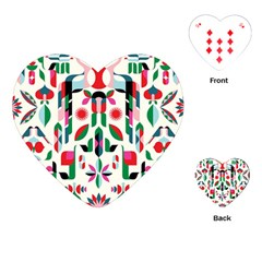 Abstract Peacock Playing Cards (Heart)