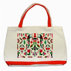 Abstract Peacock Classic Tote Bag (red)