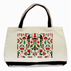Abstract Peacock Basic Tote Bag (Two Sides)
