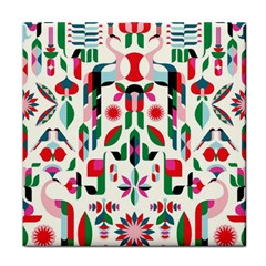 Abstract Peacock Face Towel