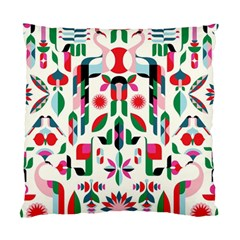 Abstract Peacock Standard Cushion Case (one Side)