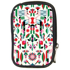 Abstract Peacock Compact Camera Cases