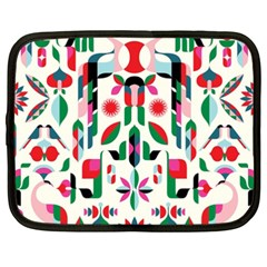 Abstract Peacock Netbook Case (xxl)