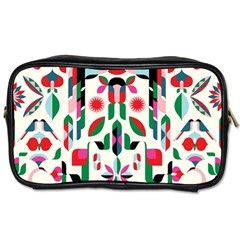 Abstract Peacock Toiletries Bags 2-Side