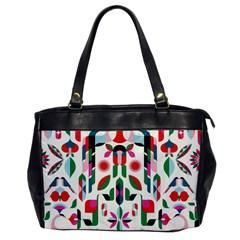 Abstract Peacock Office Handbags