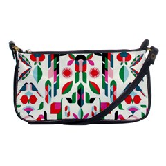 Abstract Peacock Shoulder Clutch Bags