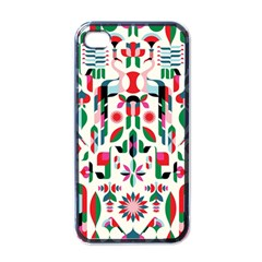Abstract Peacock Apple iPhone 4 Case (Black)